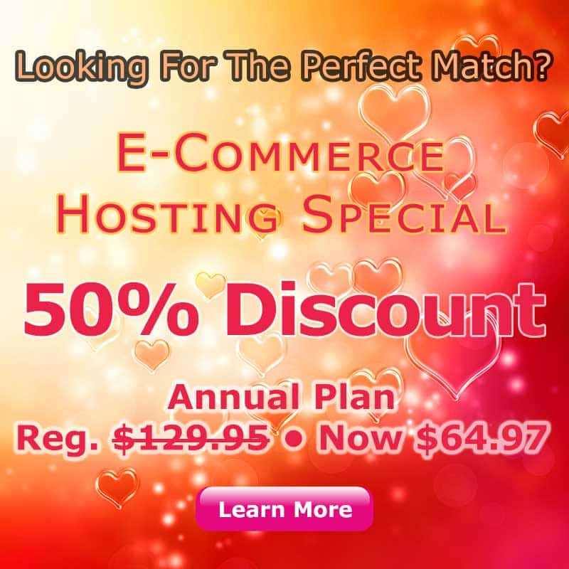 Ecommerce Hosting Special