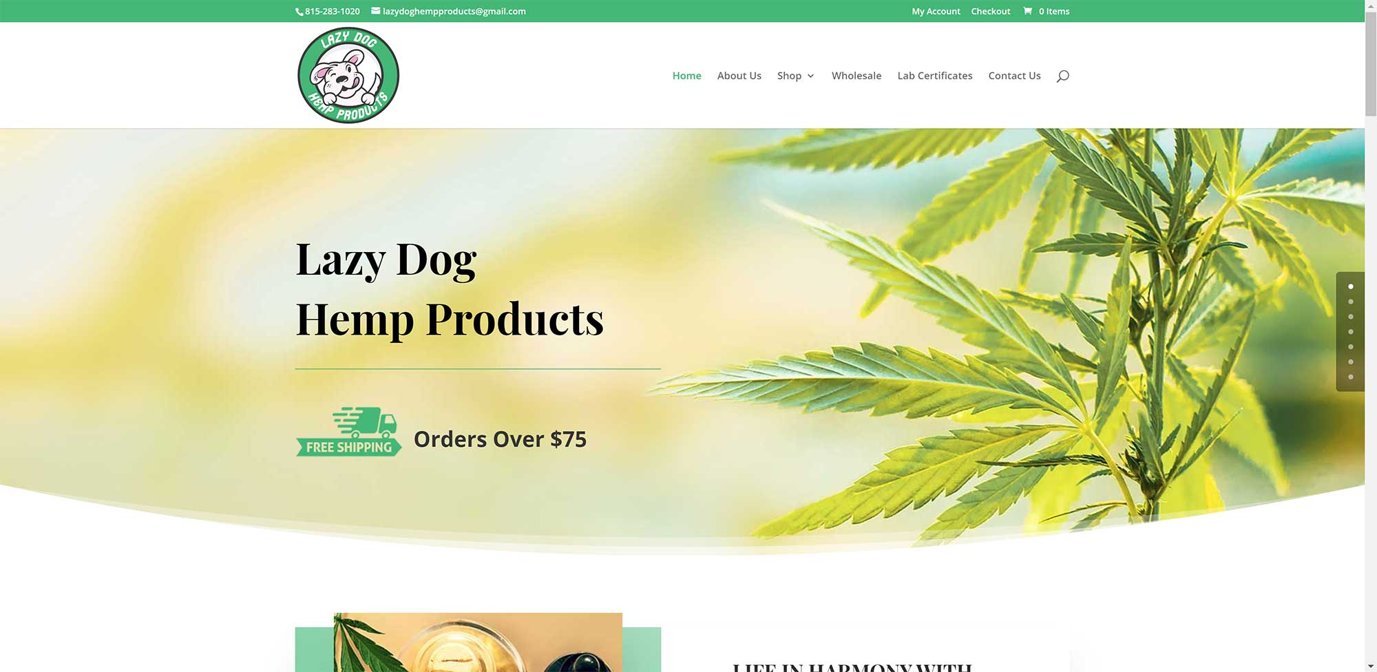 Lazy Dog Hemp Products
